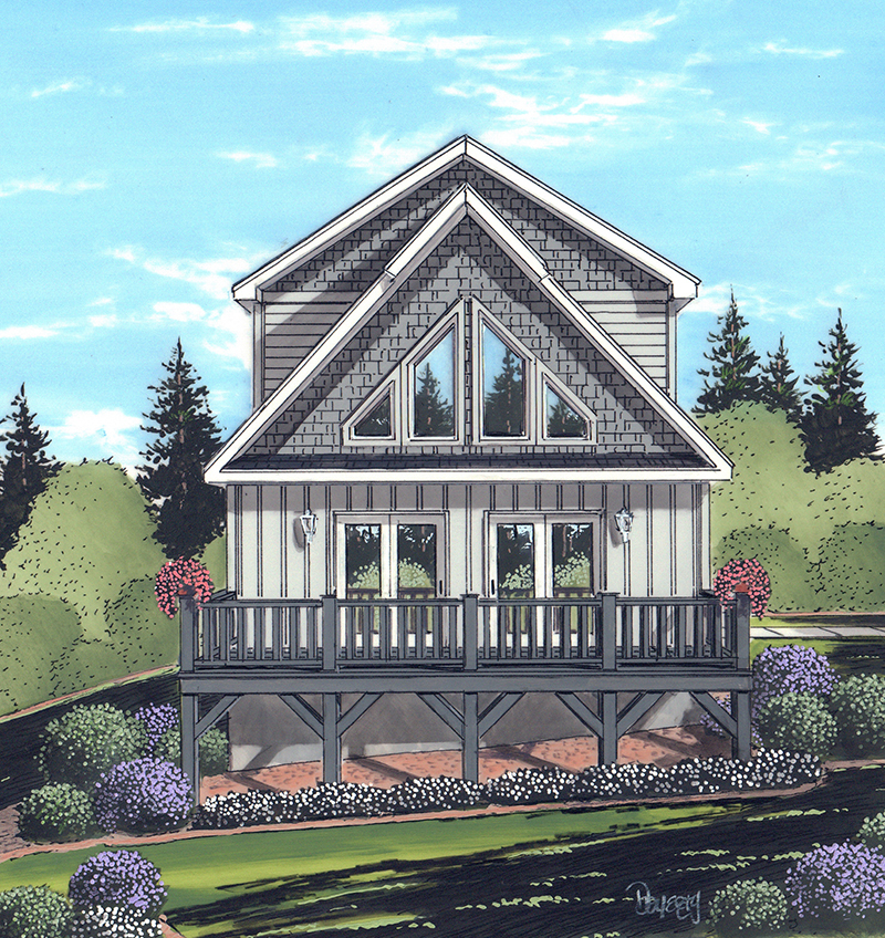 The Attractive Newland Chalet Can Make Most Of View Homesites That Require A Smaller Building Footprint At 1444 Square Feet Interior Provides